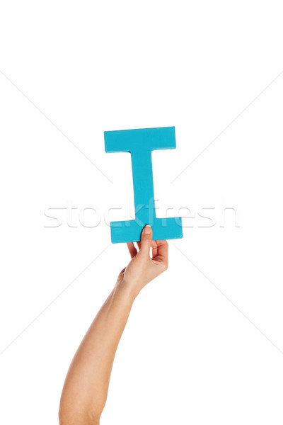hand holding up the letter I from the bottom Stock photo © stryjek