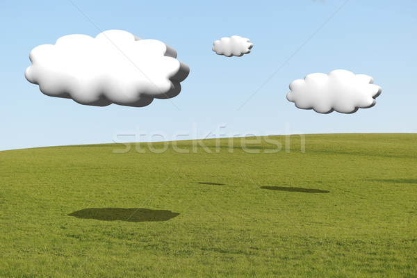 cumulus clouds 3d with the shadow Stock photo © stryjek