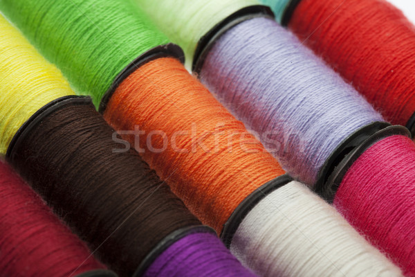 Background made of colorful sewing threads Stock photo © stryjek