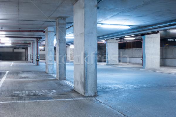 Donkere parkeren garage industriële kamer interieur Stockfoto © stryjek