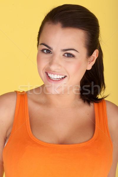 Laughing Carefree Woman Stock photo © stryjek