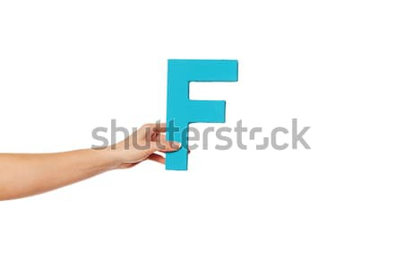 hand holding up the letter R from the bottom Stock photo © stryjek