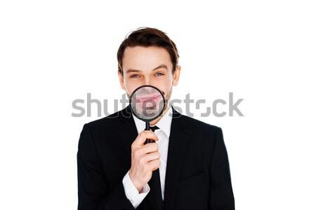 Happy businessman with a Big smile Stock photo © stryjek