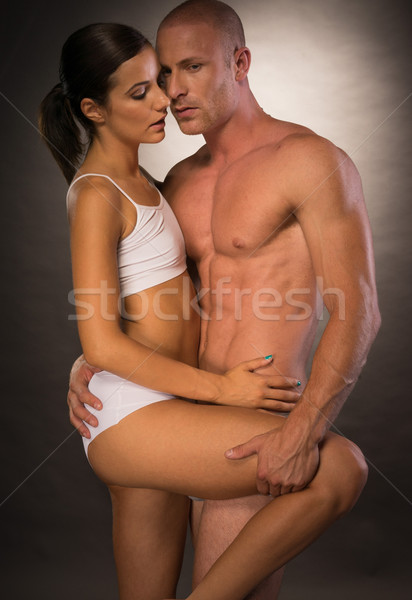 Close up Seductive Partners Portrait Stock photo © stryjek