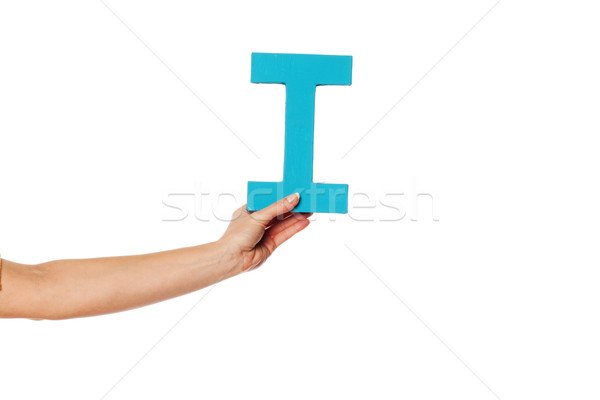 hand holding up the letter I from the left Stock photo © stryjek