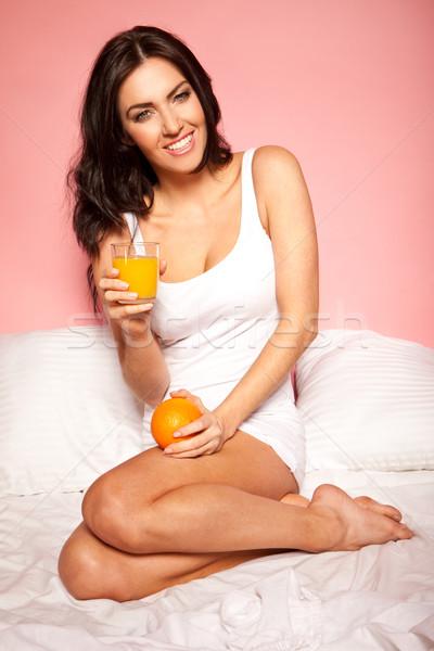 Healthy Orange Breakfast Stock photo © stryjek
