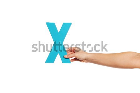 hand holding up the letter Y from the left Stock photo © stryjek