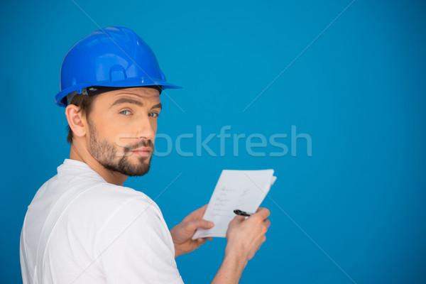 Artisan or workman taking notes Stock photo © stryjek