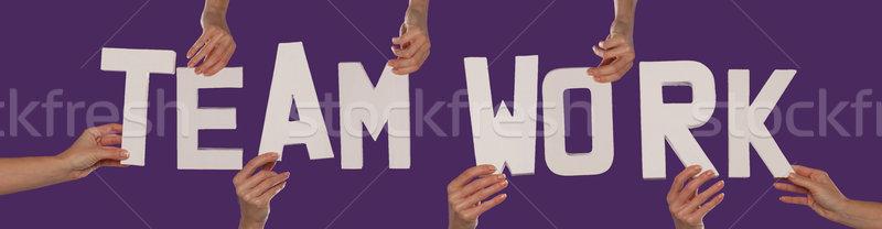 белый алфавит правописание работа в команде команде вверх Сток-фото © stryjek