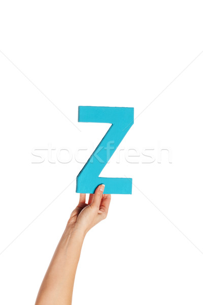 hand holding up the letter Z from the bottom Stock photo © stryjek