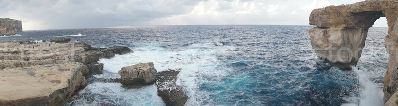 紺碧 ウィンドウ 有名な 石 アーチ 島 ストックフォト © stryjek