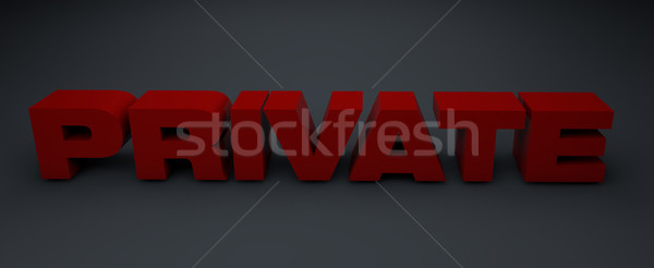 3d letters private on grey Stock photo © stryjek