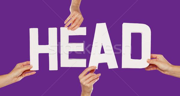 Female hands holding letters HEAD Stock photo © stryjek