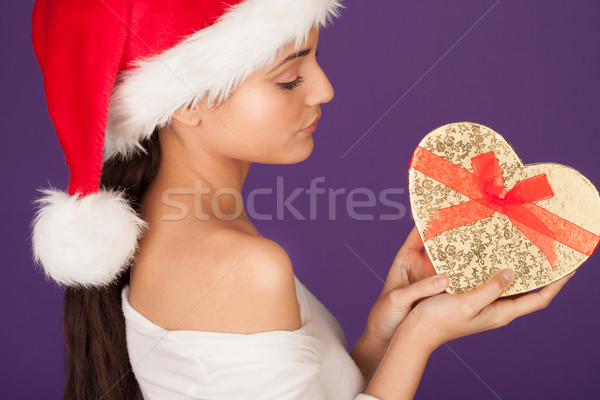 Christmas gift from a sweetheart Stock photo © stryjek