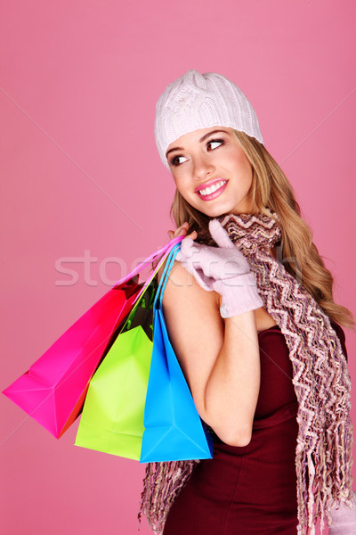 Beautiful Blonde Shopping Stock photo © stryjek