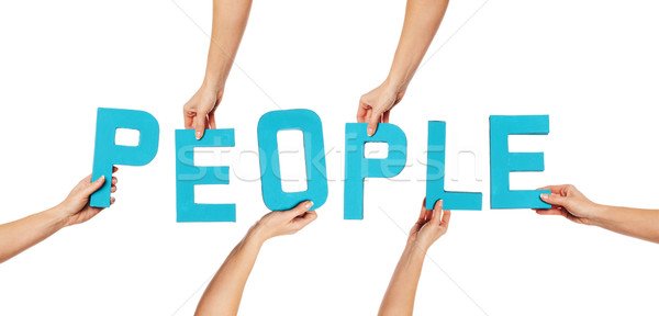 бирюзовый алфавит правописание люди синий вверх Сток-фото © stryjek
