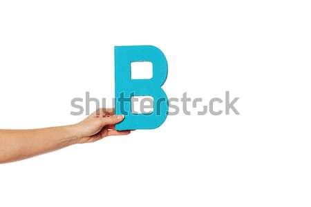 Hand aantal negen communicatie Stockfoto © stryjek