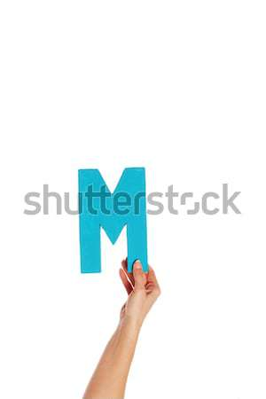hand holding up the letter H from the bottom Stock photo © stryjek