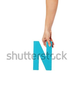 hand holding up the letter R from the top Stock photo © stryjek