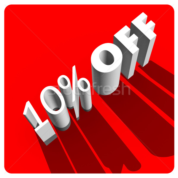 10 percent off white 3d letters Stock photo © stryjek