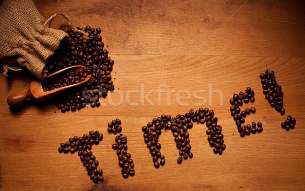 Freshly Roasted Coffee Beans Time Stock photo © stryjek