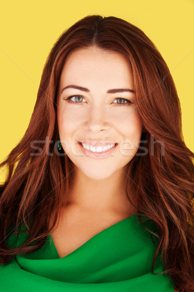 Smiling Woman With Lovely Complexion Stock photo © stryjek