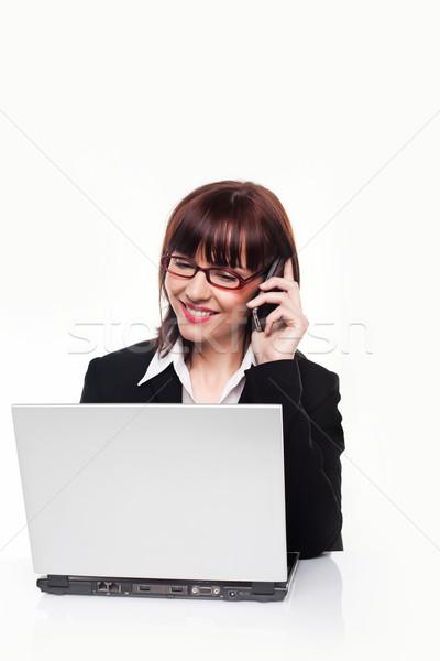 Businesswoman On Mobile Phone Stock photo © stryjek