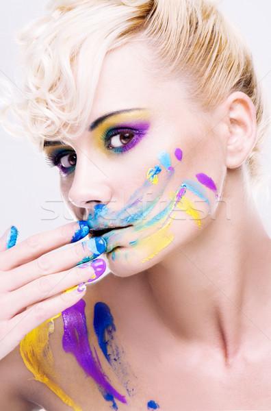 dirty face Stock photo © stryjek