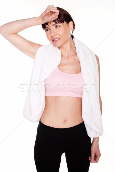 Tired Young Sportswoman Stock photo © stryjek