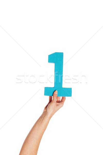 Hand bodem vrouwelijke aantal Stockfoto © stryjek