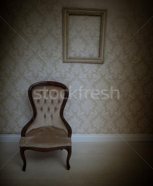 Interior decor background with a vintage chair Stock photo © stryjek