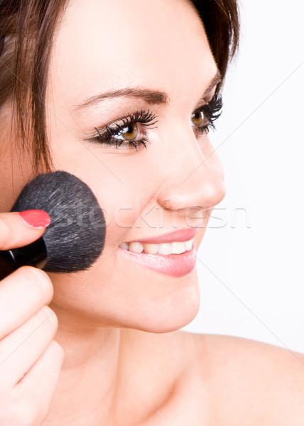 Teenage Girl Applying Make Up Stock photo © stryjek