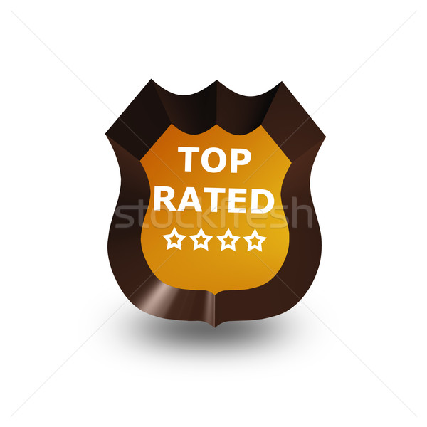 top rated icon on white Stock photo © stryjek
