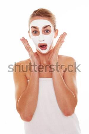 Woman gasping in shock Stock photo © stryjek
