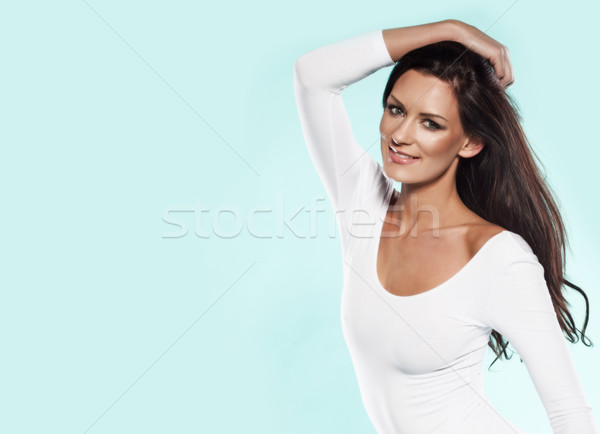 Fresh portrait of a beautiful woman Stock photo © stryjek