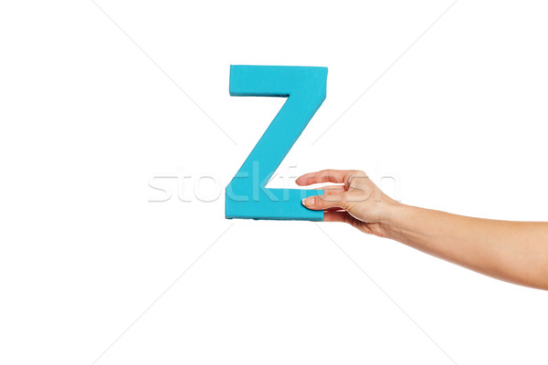 hand holding up the letter Z from the right Stock photo © stryjek