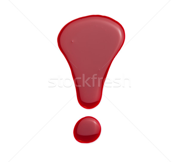 Exclamation mark in red nail lacquer Stock photo © stryjek