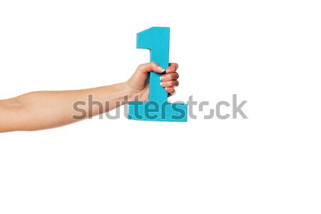 Hand vrouwelijke aantal witte Stockfoto © stryjek