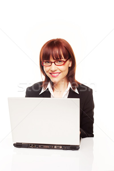 Smiling Efficient Secretary Stock photo © stryjek