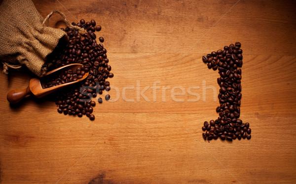 Freshly Roasted Coffee Beans 1 Stock photo © stryjek