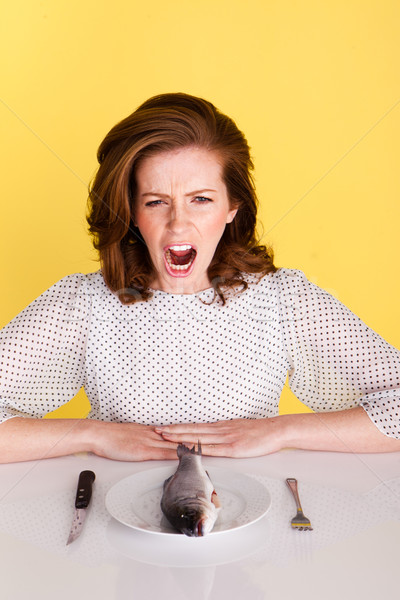 Disgusted Angry Woman Stock photo © stryjek