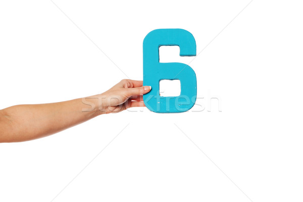 hand holding up the number six from the left Stock photo © stryjek