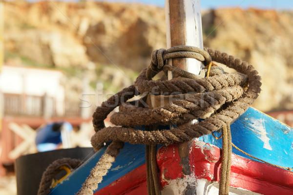 Oude bruin touw stropdas boot Stockfoto © stryjek