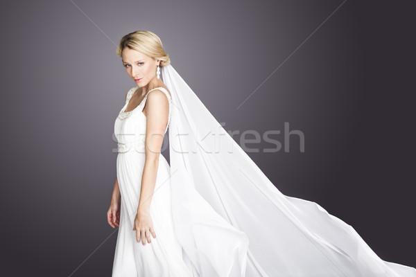 ストックフォト: 説明 · 花嫁 · 小さな · 白 · 魅力