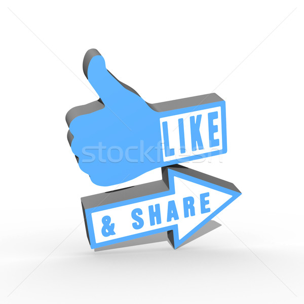 Like and Share Thumbs Up Stock photo © stryjek