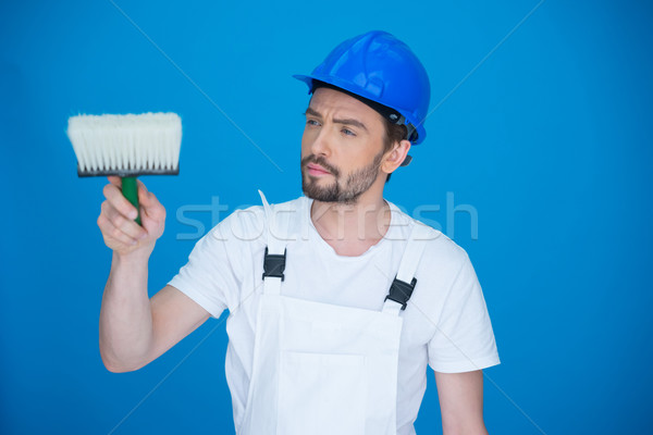 Painter holding a paint brush Stock photo © stryjek