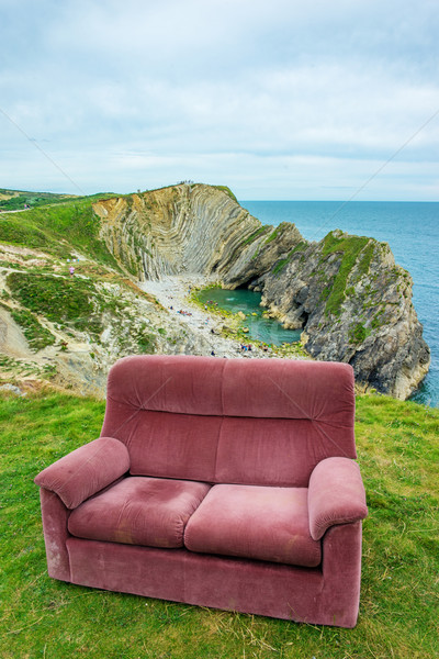 sofa at the top of the hill , uk , dorset, Stock photo © stryjek