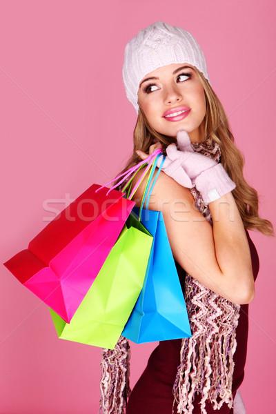 Colourful Winter Shopping Stock photo © stryjek