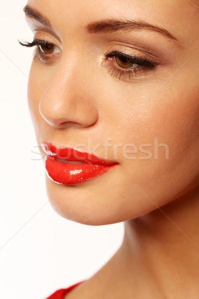 Luscious Red Lips Stock photo © stryjek
