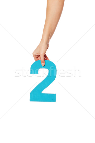 hand holding up the number two from the top Stock photo © stryjek